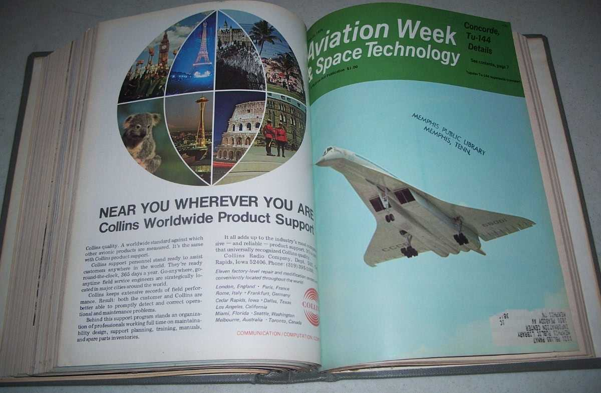Aviation Week & Space Technology Magazine April-June 1971 Bound Together, N/A