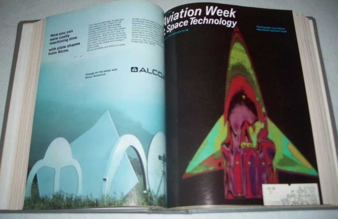Aviation Week & Space Technology Magazine July-September 1972 Bound Together, N/A