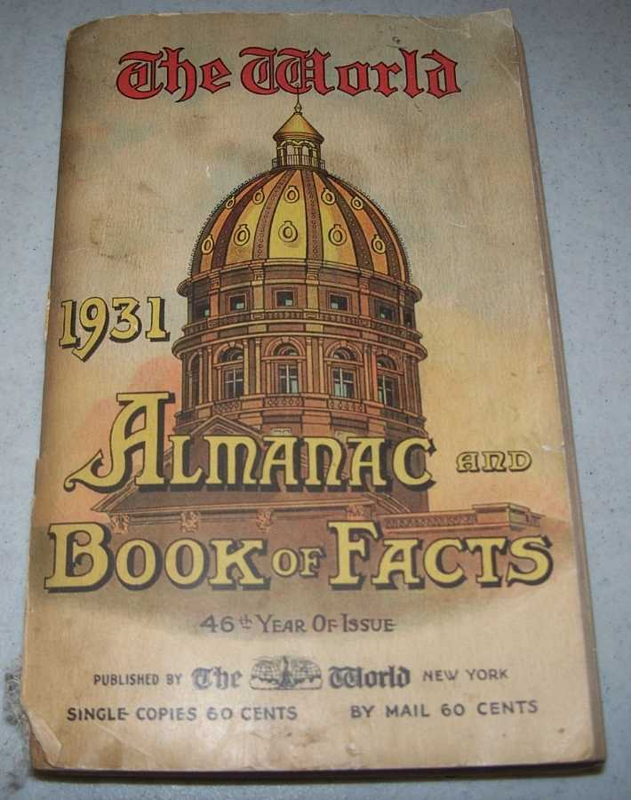 The World Almanac and Book of Facts for 1931, Lyman, Robert Hunt (ed.)