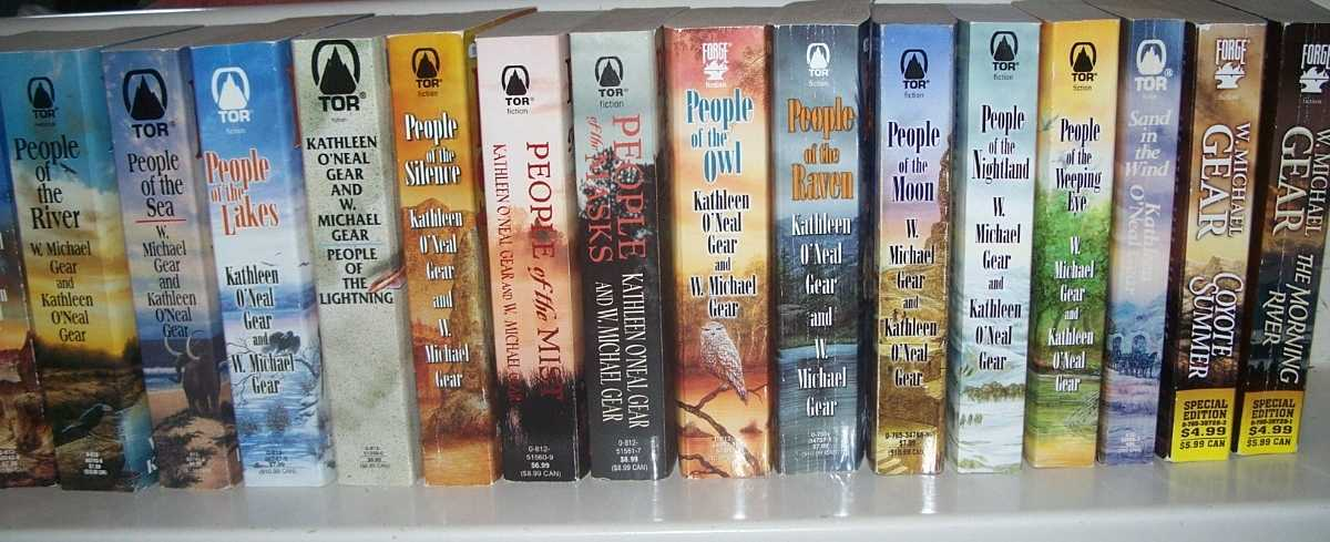 15 Books in People Series: People of the...Wolf; Fire; Earth; River; Sea; Lakes; Lightning; Silence; Mist; Masks; Owl; Raven; Moon; Nightland; Weeping Eye + bonus books, Gear, Kathleen O'Neal and Gear, W. Michael