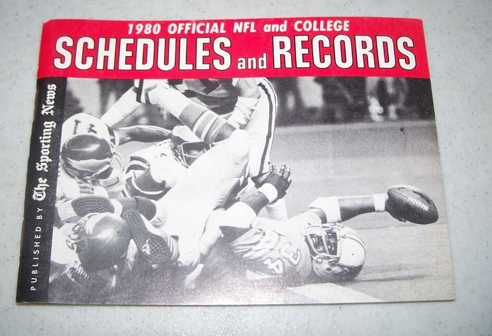 1980 Official NFL and College Schedules and Records, N/A