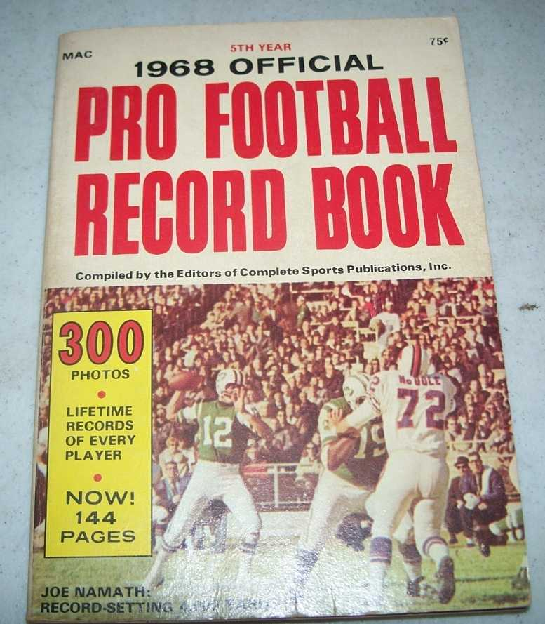 1968 NFL and AFL Pro Football Record Book, N/A