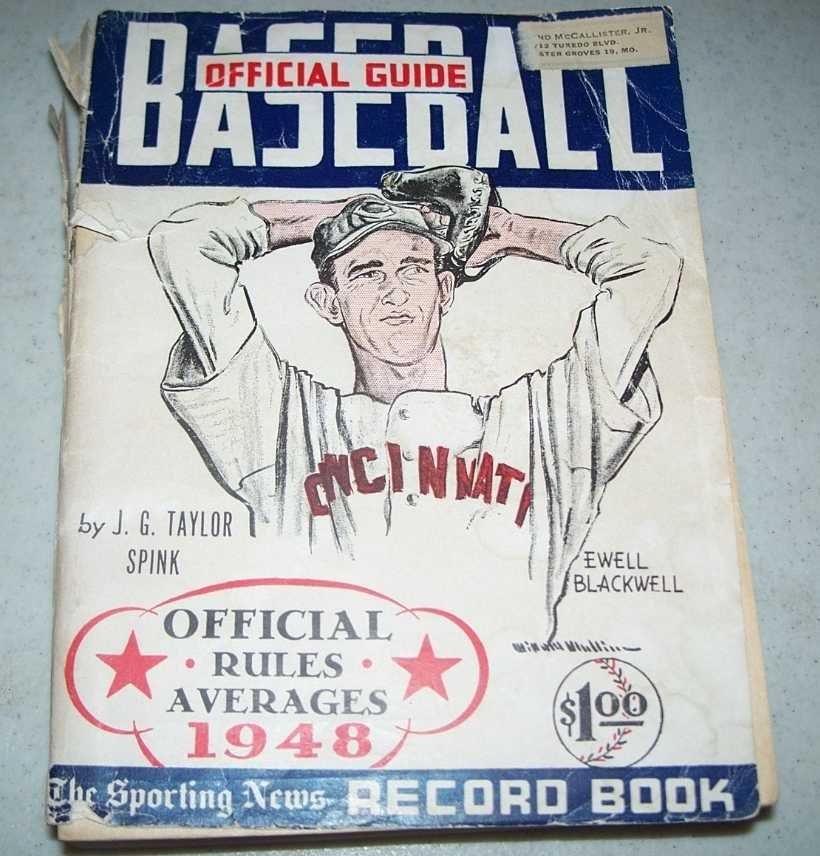 Baseball Guide and Record Book 1948, Spink, J.G. Taylor