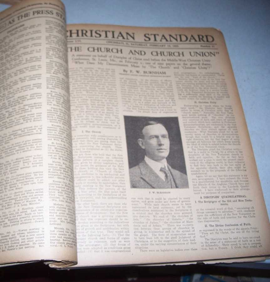 Christian Standard 52 Issues January-December 1921 (missing only 1 issue), Errett, Isaac (founder)