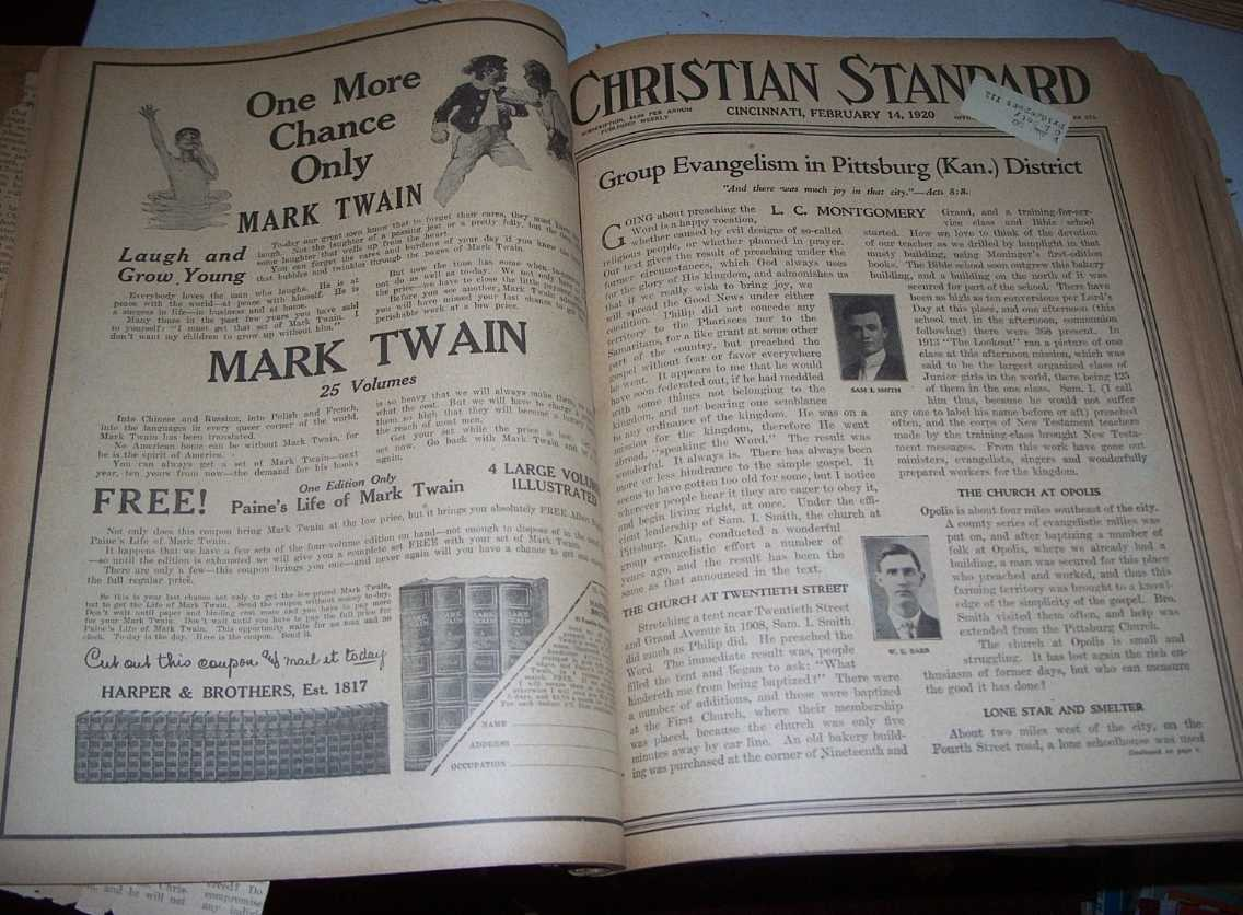 Christian Standard 50 Issues January-December 1920 (missing only 1 issue), Errett, Isaac (founder)