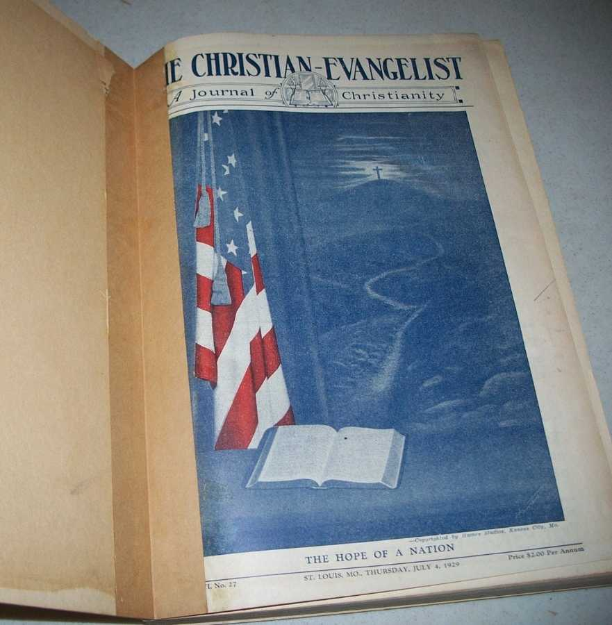 The Christian Evangelist: National Weekly of the Disciples of Christ July-December (25 Issues), Abbott, B.A. (ed.)