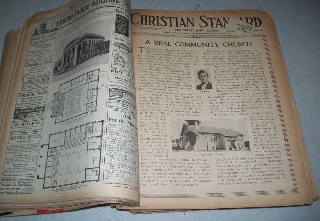 Christian Standard 50 Issues January-December 1922 (missing only 2 issues), Errett, Isaac (founder)