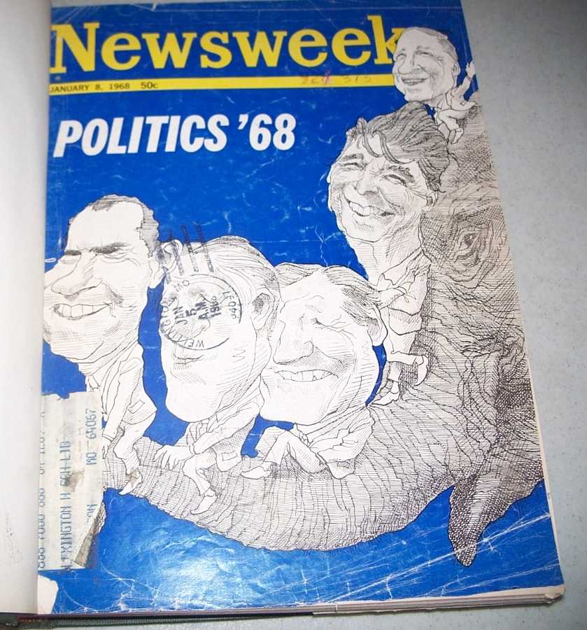 Newsweek Magazine Bound Volume 71, January-March 1968, N/A