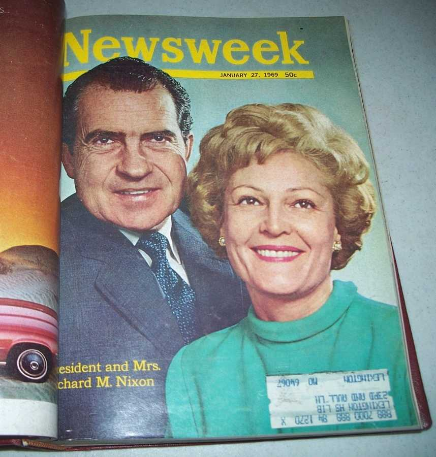 Newsweek Magazine Bound Volume 73, January-March 1969, N/A
