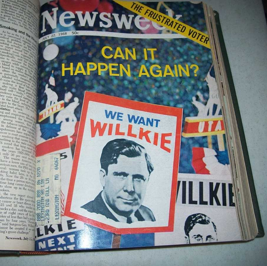 Newsweek Magazine Bound Volume 72, July-September 1968, N/A