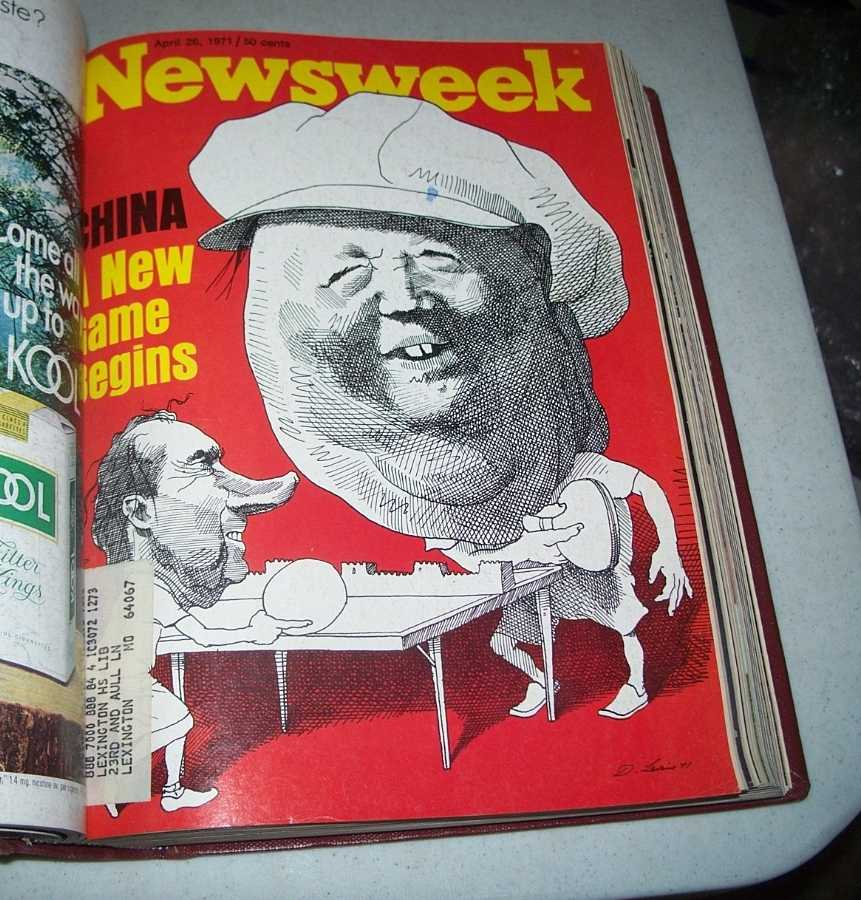 Newsweek Magazine Bound Volume 77, April-June 1971, N/A
