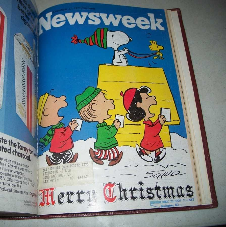 Newsweek Magazine Bound Volume 78, October-December 1971, N/A
