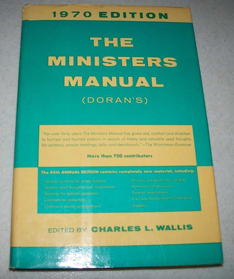 The Ministers Manual (Doran's) 1970 Edition, Heicher, M.K.W.