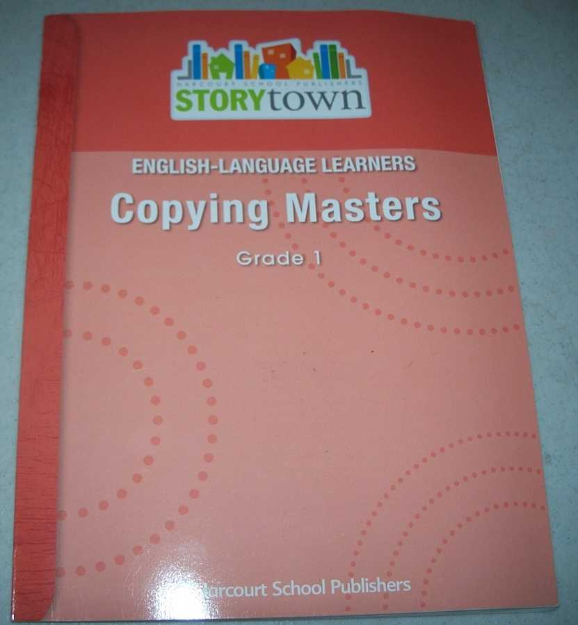 English-Language Learners Copying Masters Grade 1 (Storytown), N/A