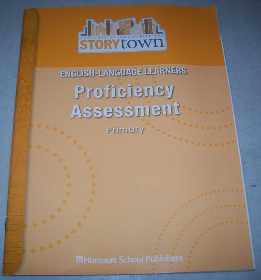 English-Language Learners Proficiency Assessment Primary (Storytown), N/A