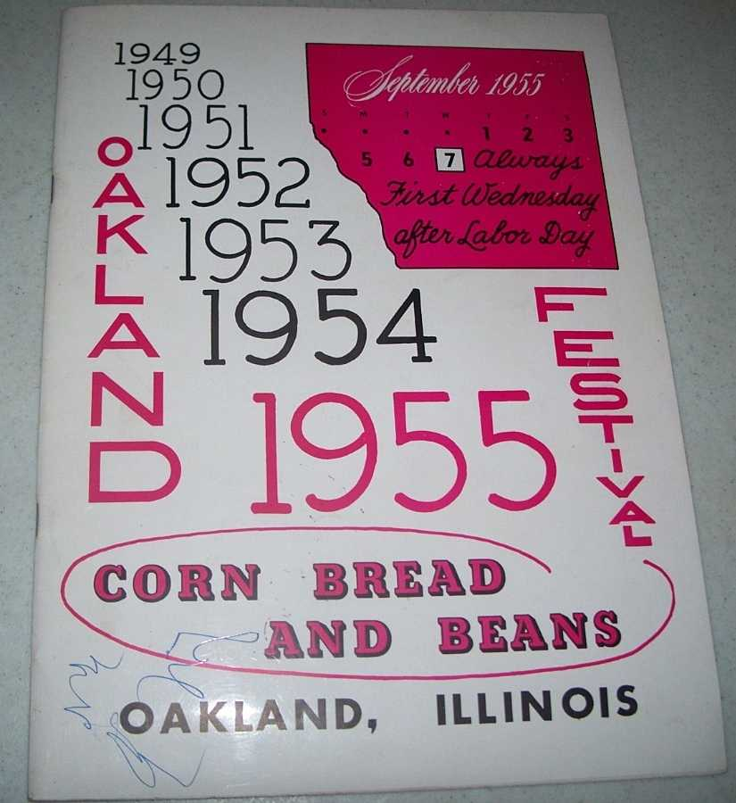 1955 Cornbread and Beans Festival program, Oakland, Illinois, N/A