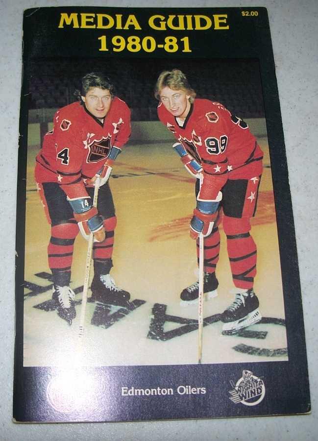 Edmonton Oilers Media Guide 1980-81 (Wayne Gretzky on cover), N/A