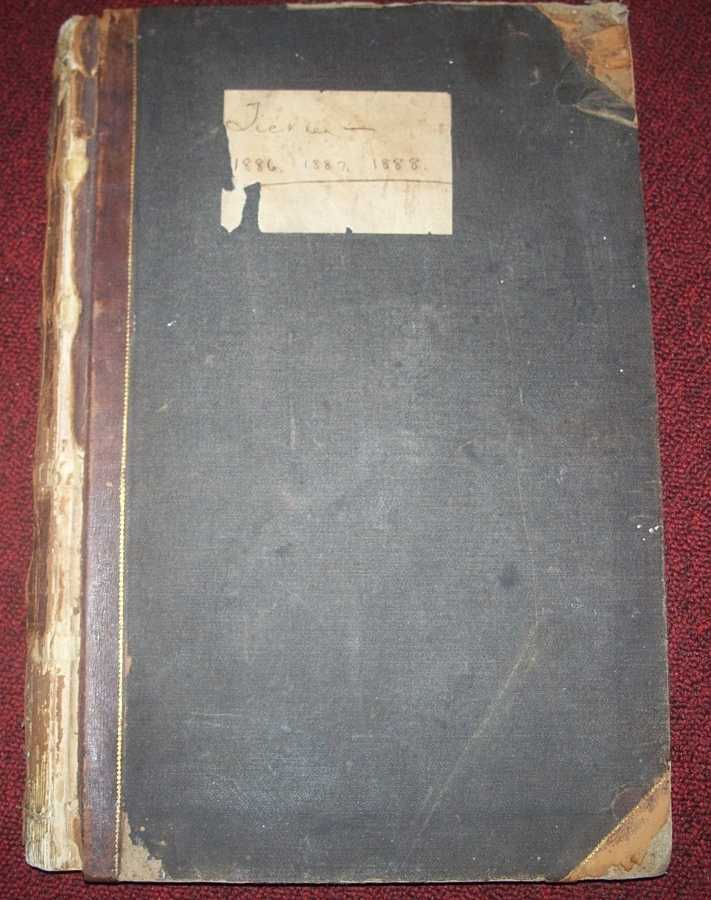 Tickler Book from the First National Bank of Oswego, Kansas, 1886-1887-1888, N/A