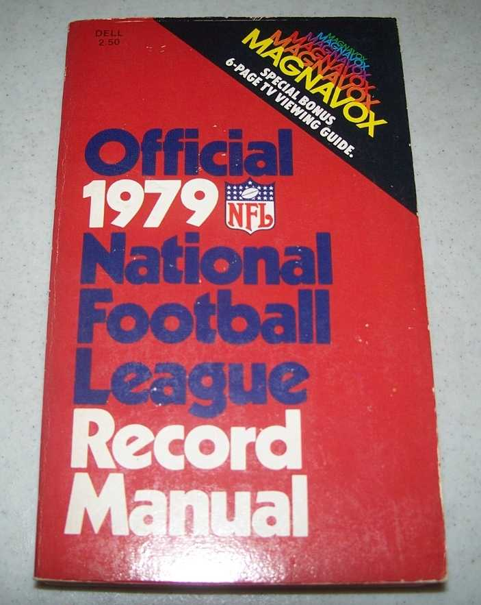 Official 1979 National Football League Record Manual, N/A