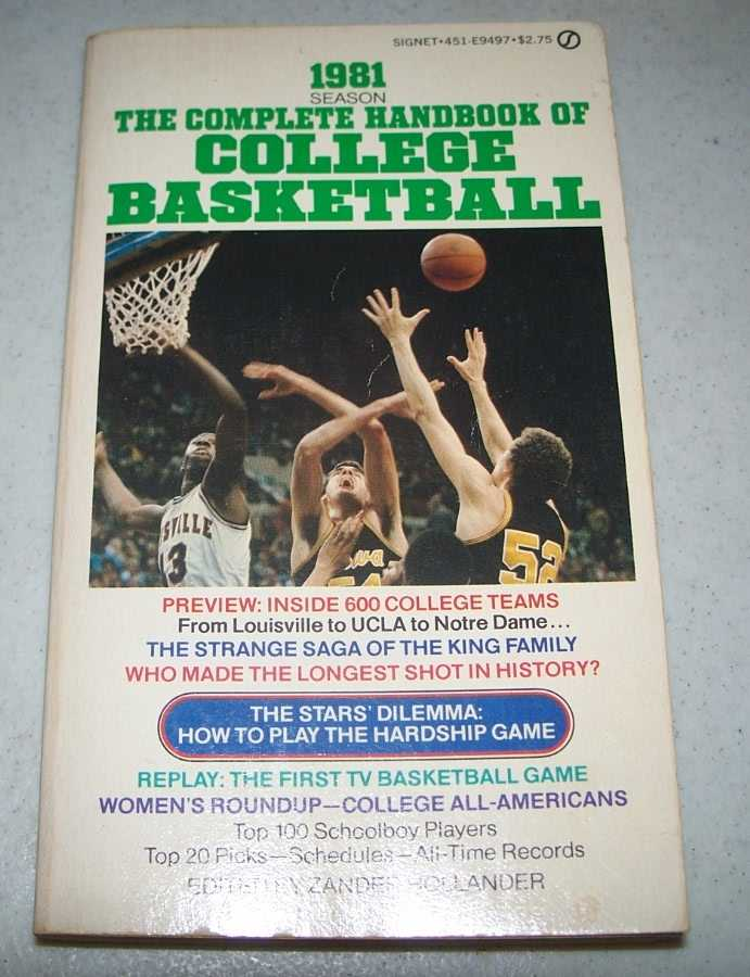 The Complete Handbook of College Basketball 1981 Season, Hollander, Zander (ed.)
