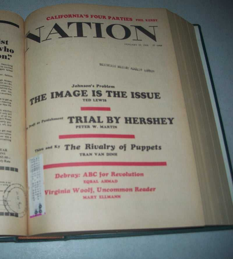 The Nation (Newspaper): America's Leading Liberal Weekly Volume 206, January-June 1968 Bound Volume, Various