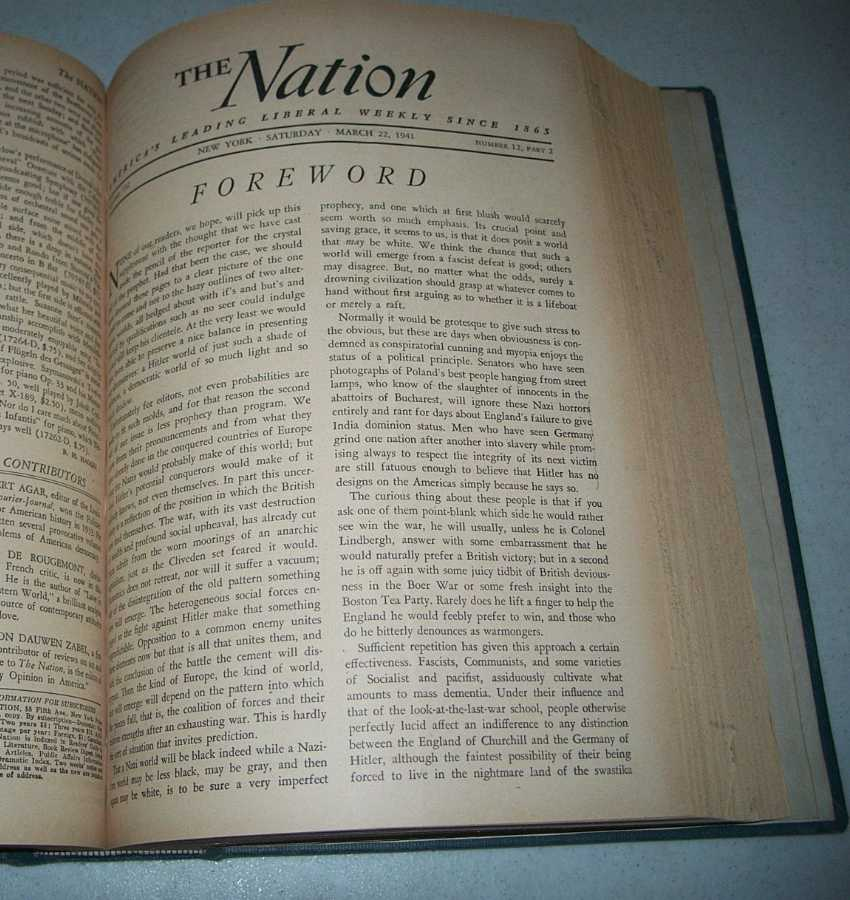 The Nation (Newspaper): America's Leading Liberal Weekly Volume 152, January-June 1941 Bound Volume, Various