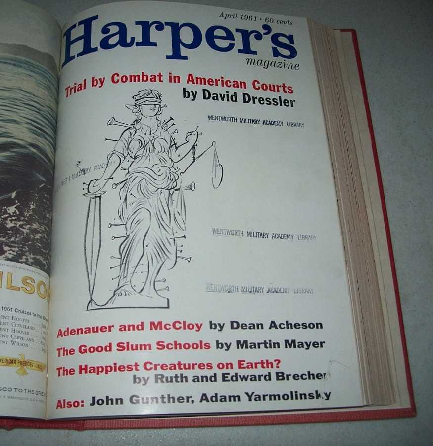 Harper's Magazine Volume 222, January-June 1961, Bound in One Volume, N/A