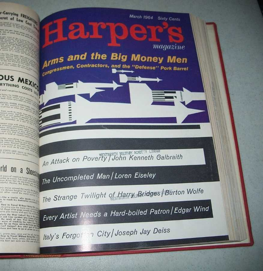 Harper's Magazine Volume 228, January-June 1964 Bound in One Volume, N/A