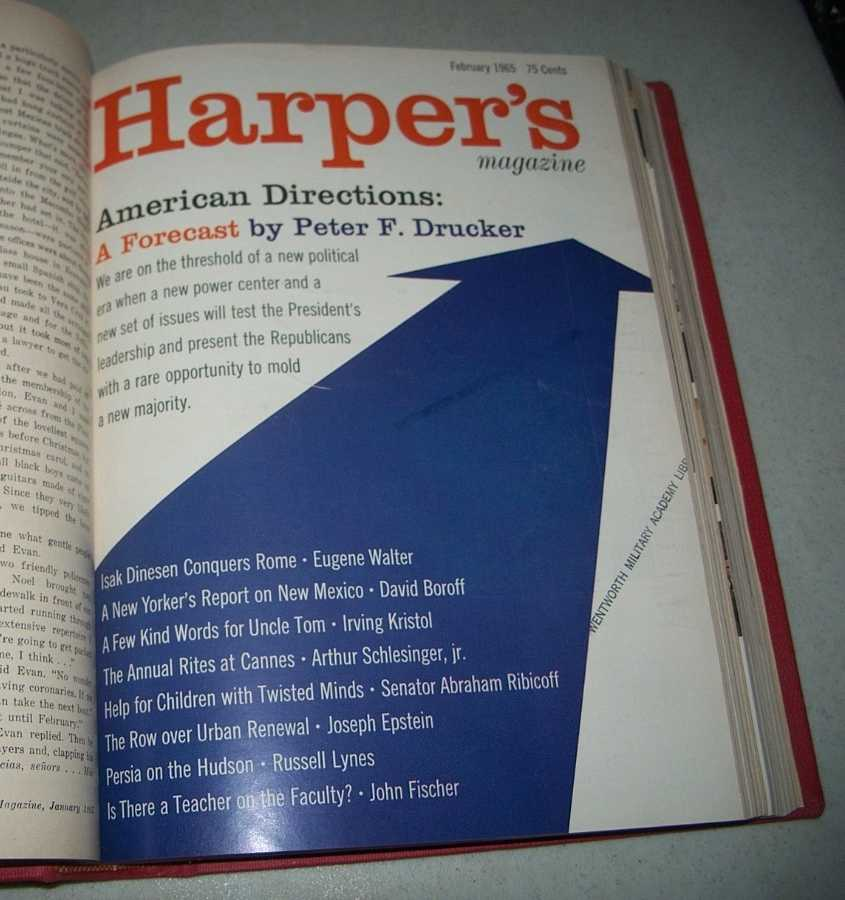 Harper's Magazine Volume 230, January-June 1965 Bound in One Volume, N/A