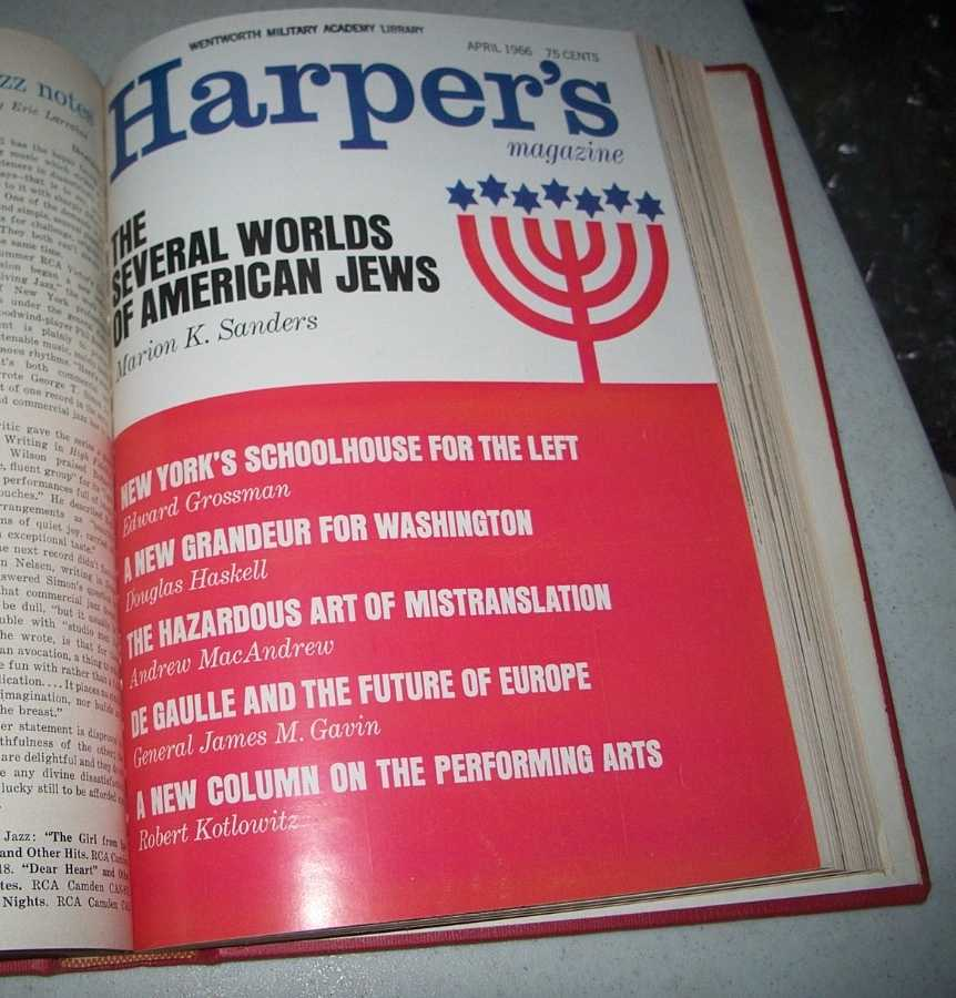 Harper's Magazine Volume 232, January-June 1966 Bound in One Volume, N/A