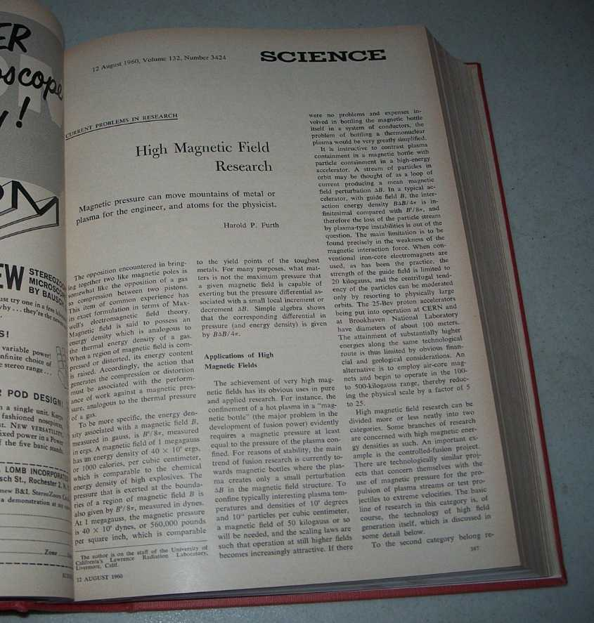Science: A Weekly Journal Devoted to the Advancement of Science, Volume 132, July-December 1960 Bound together, N/A