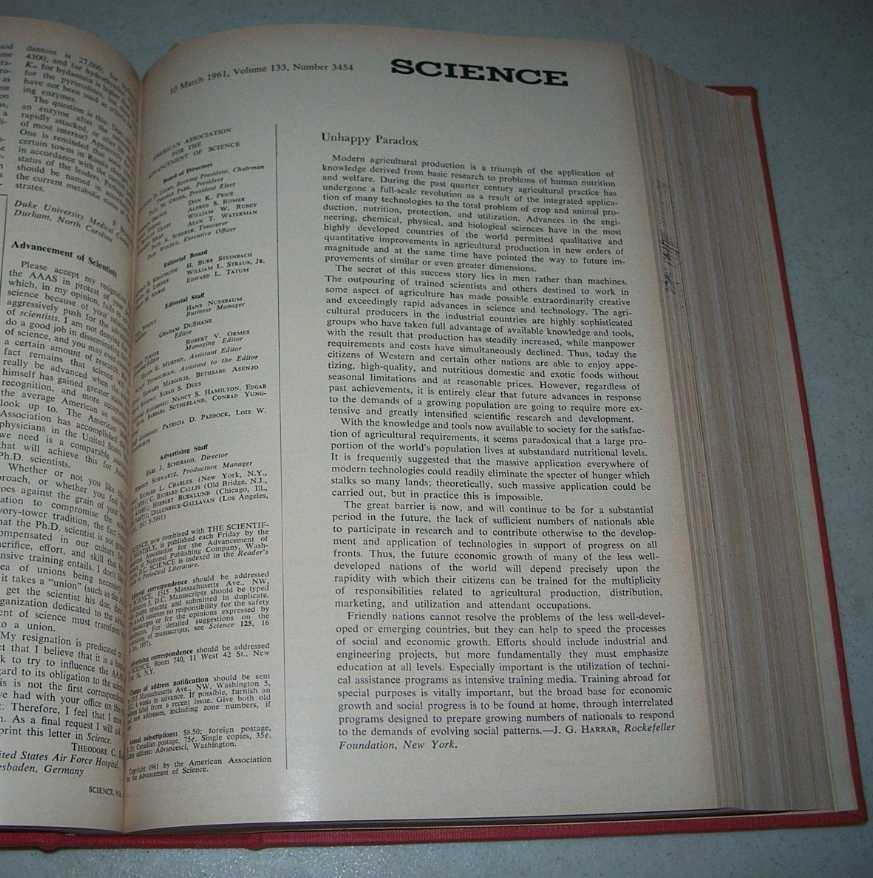 Science: A Weekly Journal Devoted to the Advancement of Science, Volume 133, January-June 1961 Bound together, N/A