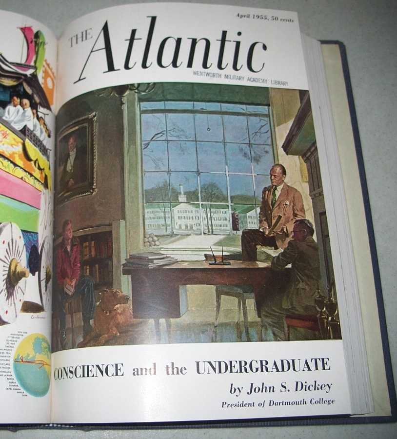 The Atlantic Monthly Magazine Volume 195, January-June 1955 Bound Together, Various