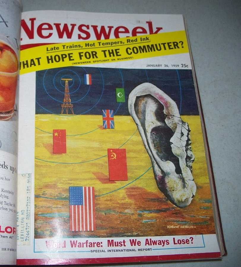 Newsweek Magazine Volume 53, January-March 1959 bound together, N/A