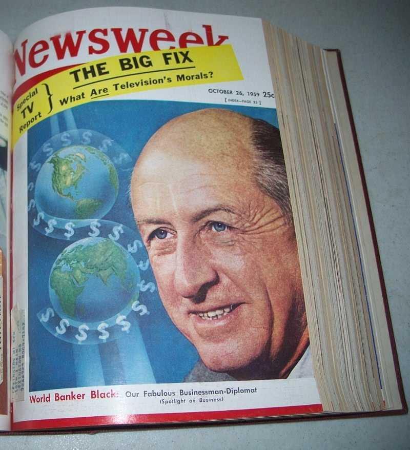 Newsweek Magazine Volume 54, October-December 1959 bound together, N/A