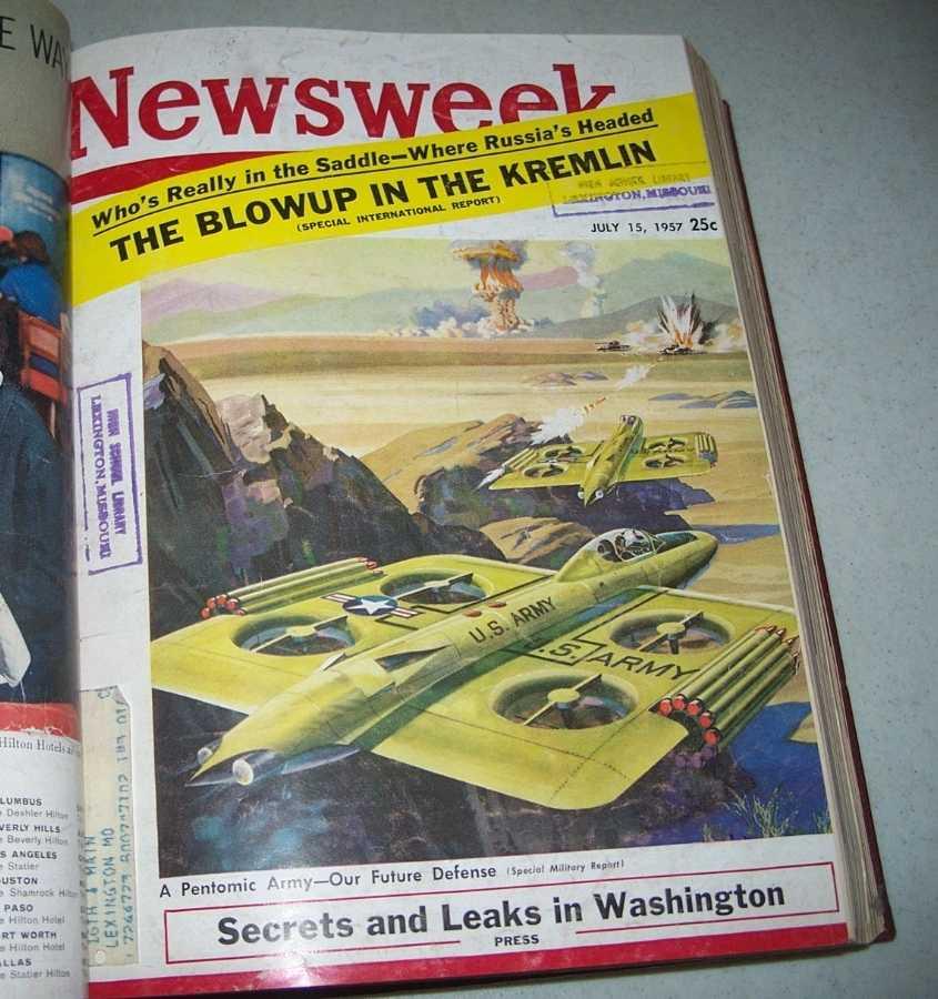 Newsweek Magazine Volume 50, July-September 1957 bound together, N/A