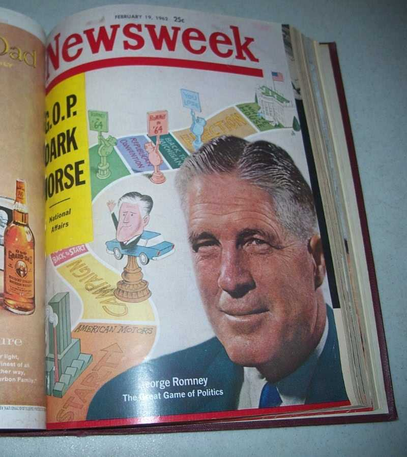 Newsweek Magazine Volume 59, January-March 1962 bound together, N/A