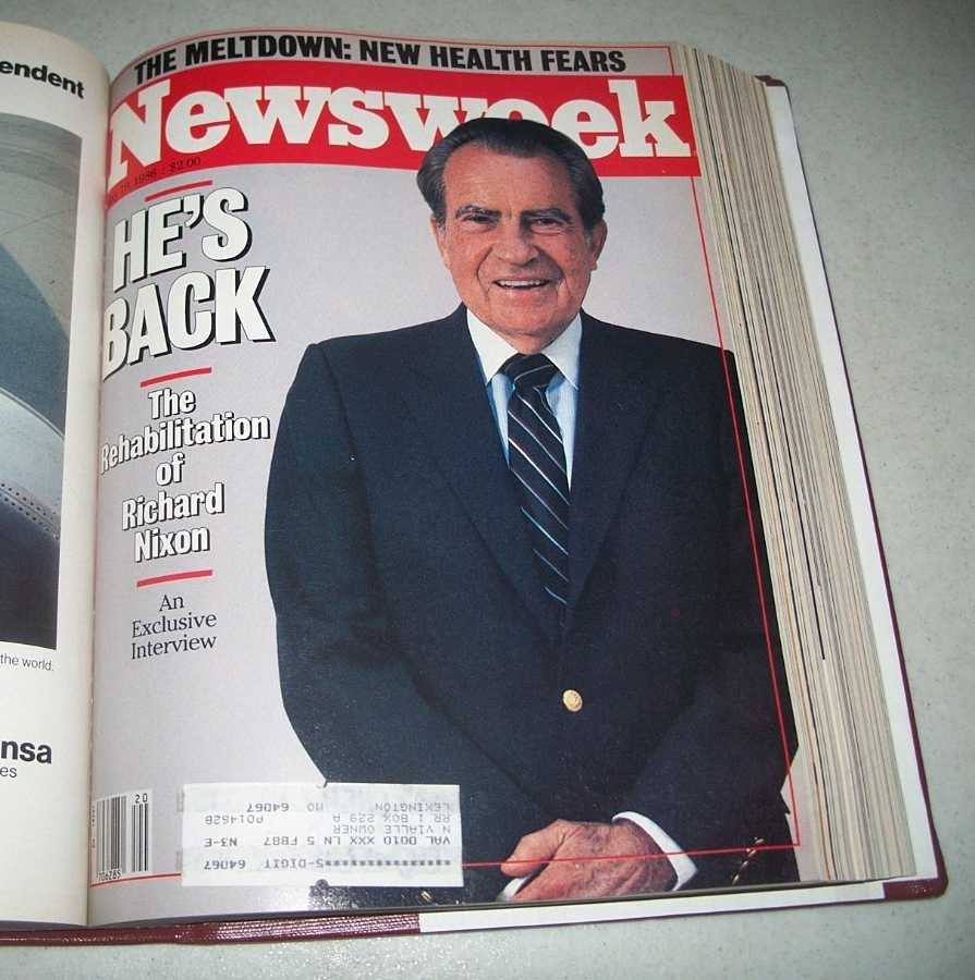 Newsweek Magazine Volume 107, April-June 1986 bound together, N/A
