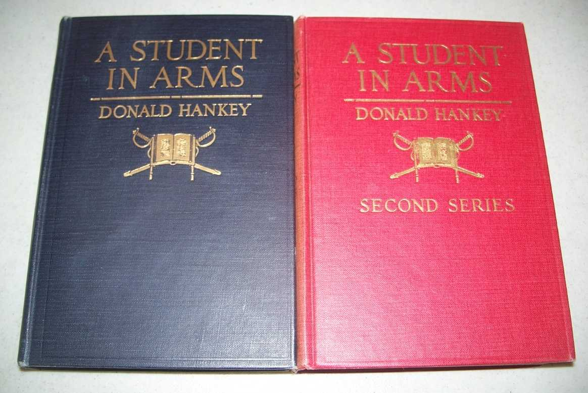 A Student in Arms, First & Second Series (2 Books), Hankey, Donald; Strachey, J. St. Loe (intro)