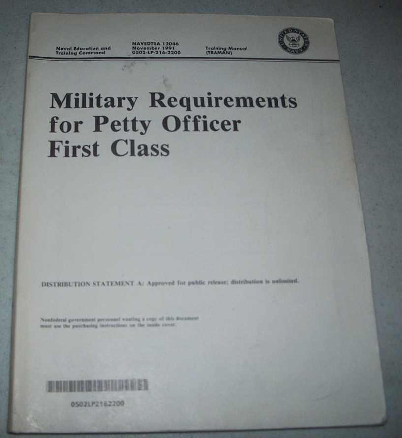 Military Requirements for Petty Officer First Class (NAVEDTRA 12046), N/A