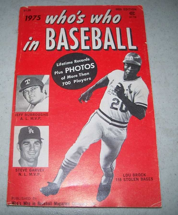 1975 Who's Who in Baseball, 60th Edition, N/A