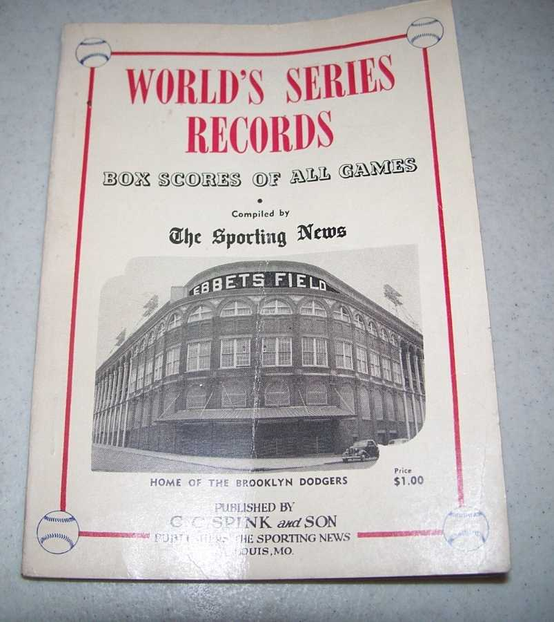 1954 World's Series Record Book: Box Scores of All Games, Gettelson, Leonard