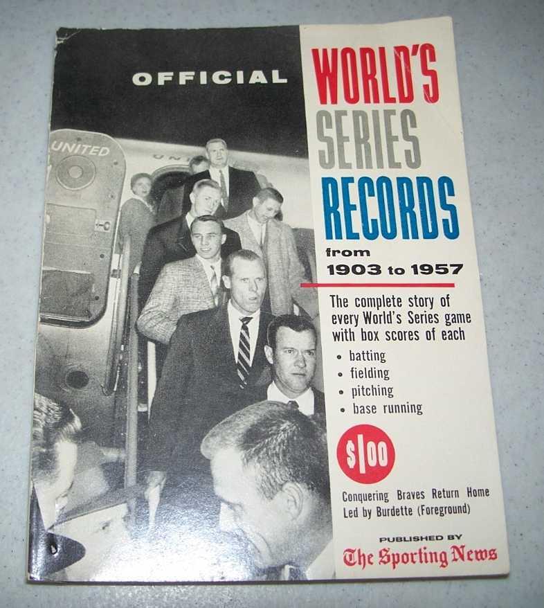 1958 World's Series Record Book 1903-1957, Gettelson, Leonard
