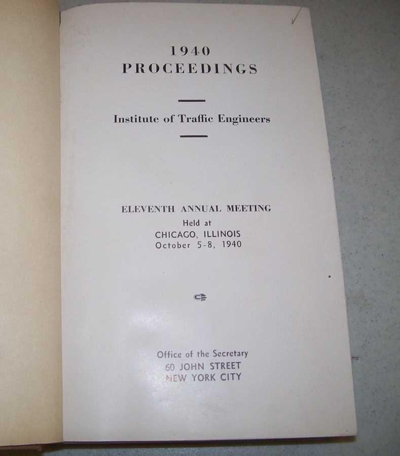 1940-1941-1942-1943-1944-1945-1946 Proceedings of the Institute of Traffic Engineers, N/A