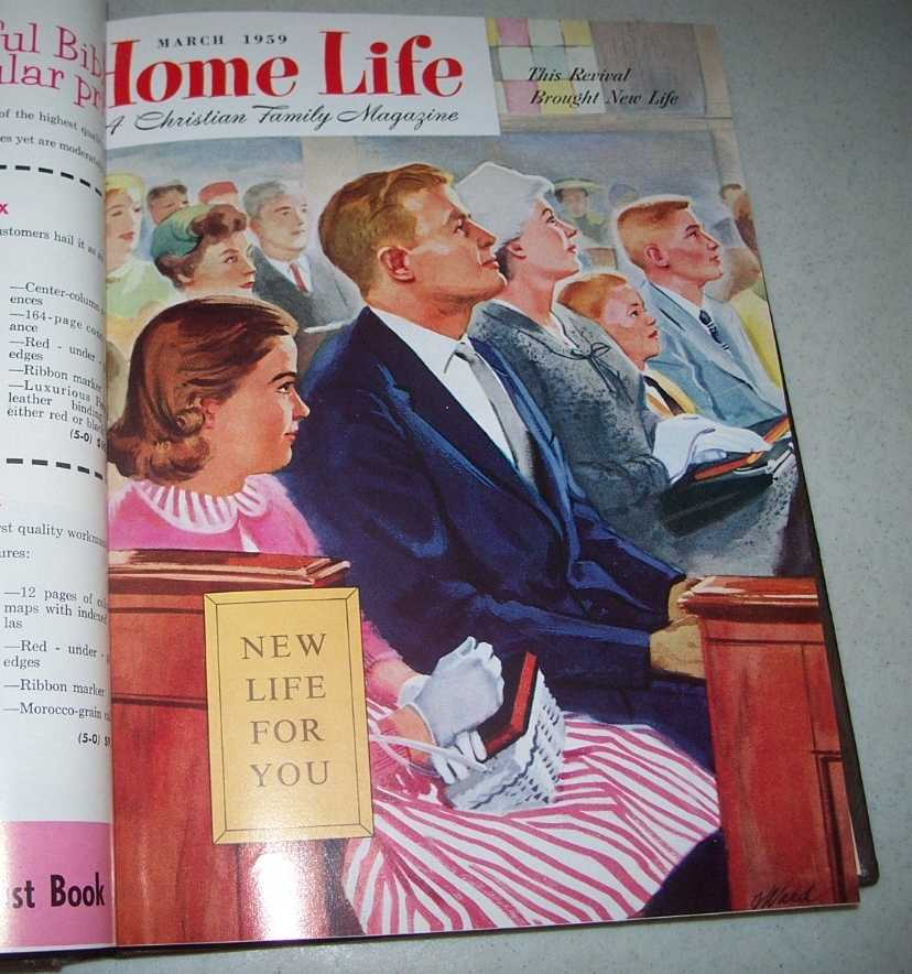 Home Life: A Christian Family Magazine 1959 bound volume 12 issues, N/A