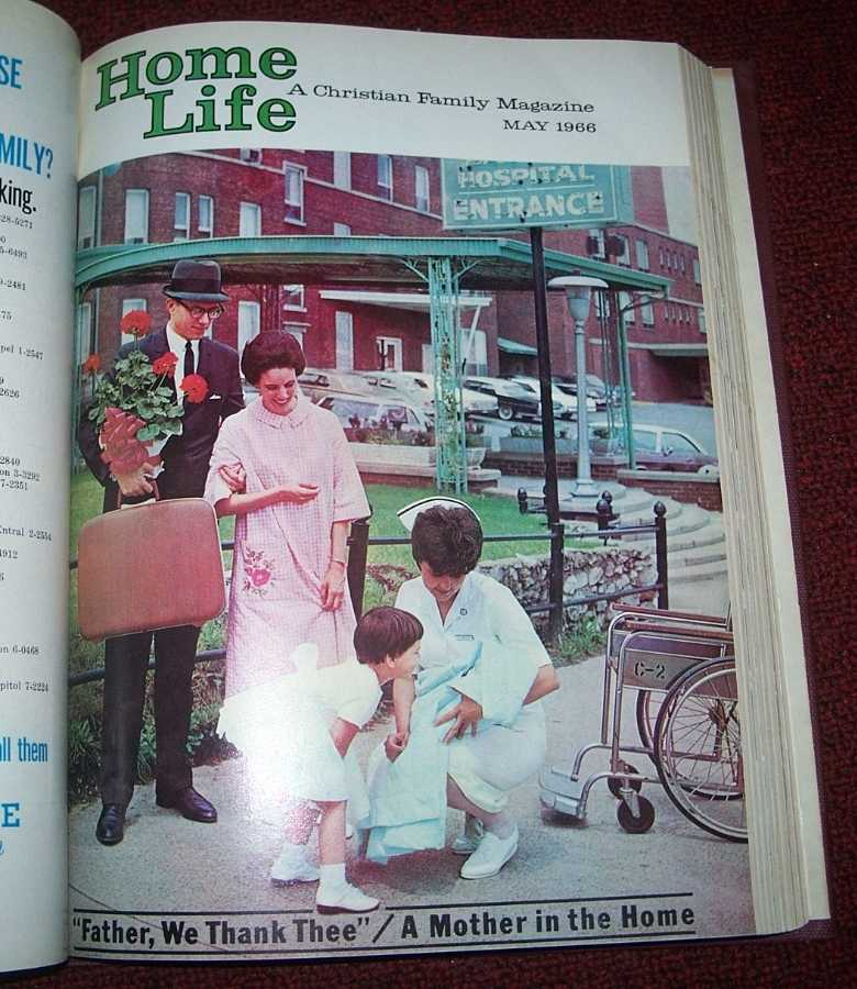 Home Life: A Christian Family Magazine 1966 bound volume 12 issues, N/A