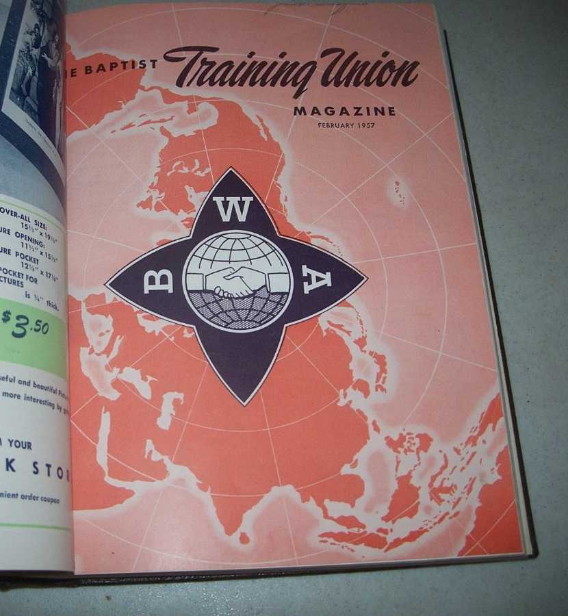 The Baptist Training Union Magazine 1957 Bound Volume of 12 Issues, N/A