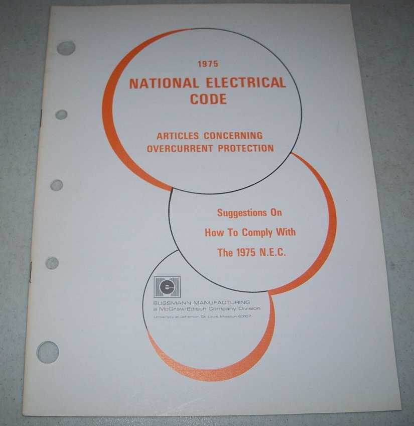 1975 National Electrical Code Articles Concerning Overcurrent Protection, N/A