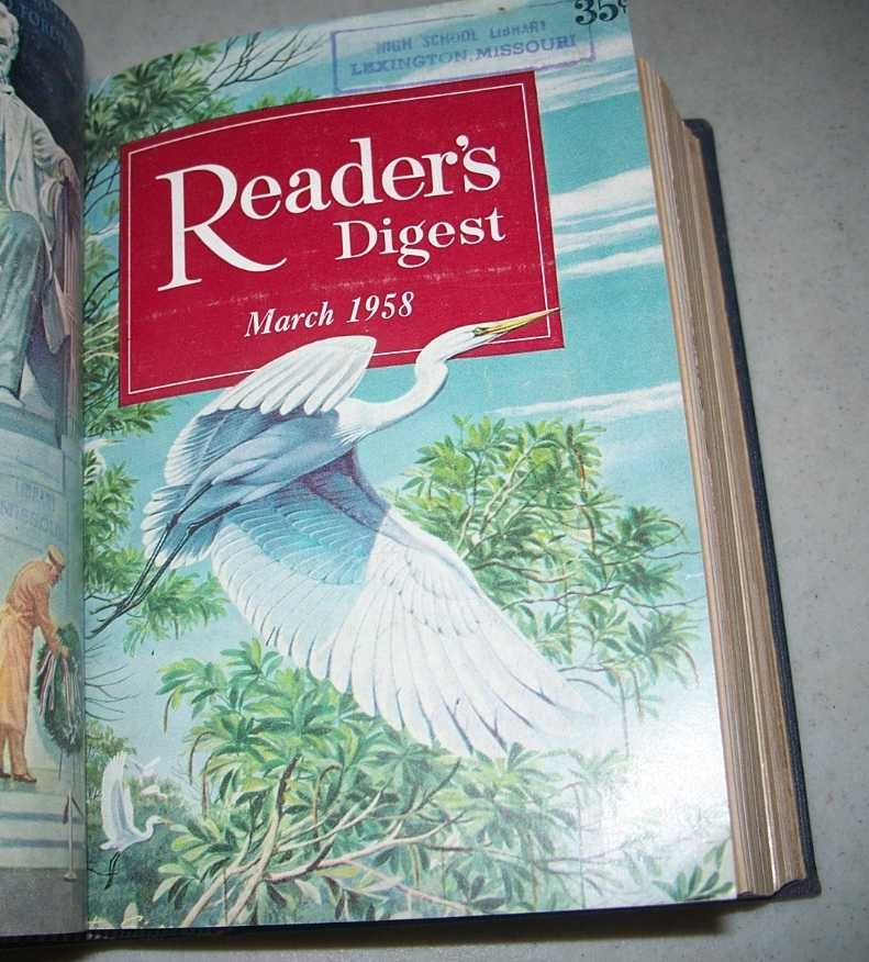 Reader's Digest Bound Volume 72, January-June 1958, N/A
