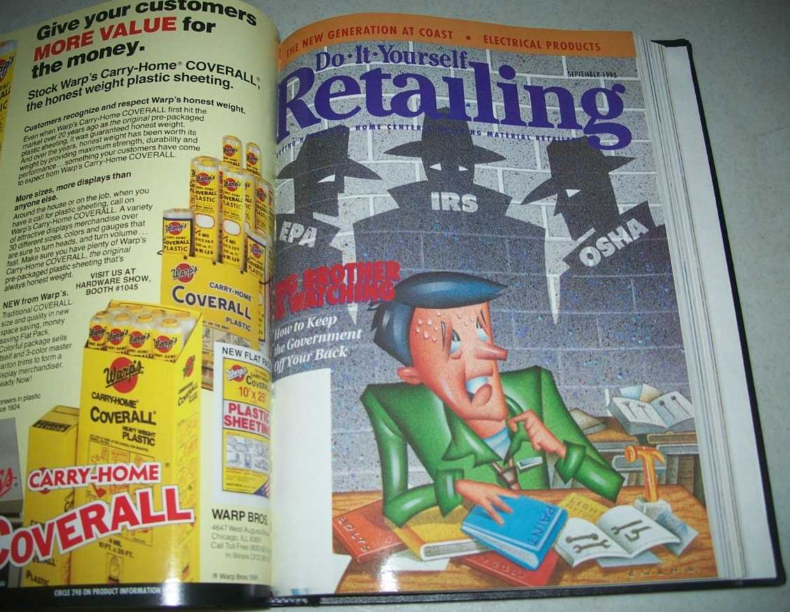 Do-It-Yourself Retailing Magazine (DIY): Serving Hardware, Home Center and Building Material Retailers, Volume 165, July-December 1993 bound together, N/A